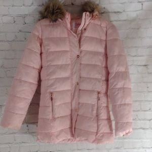 Justice pink girl coat
